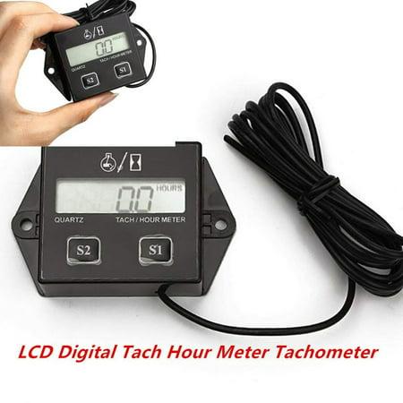 Motorcycle Tachometer 12v Lcd Display Tachometer Hour Meter Car