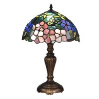 Dale Tiffany Fox Peony Tiffany Table Lamp