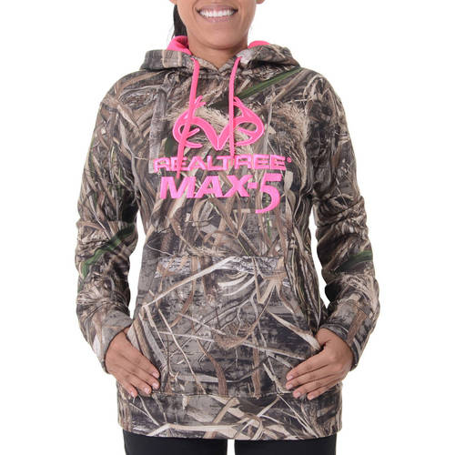 Realtree and Mossy Oak Women's Camo Performance Pullover Fleece Hoodie by IVORY DIV OF INTRADECO