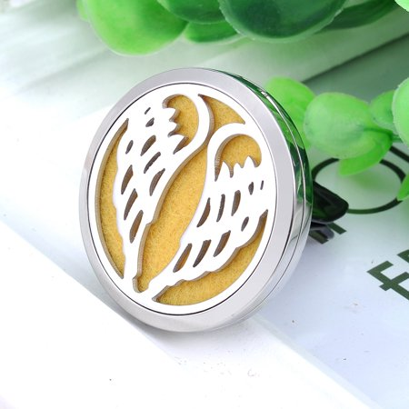 Car Air Vent Clip Angel Wings Aromatherapy Perfume Essential Oil Diffuser Locket