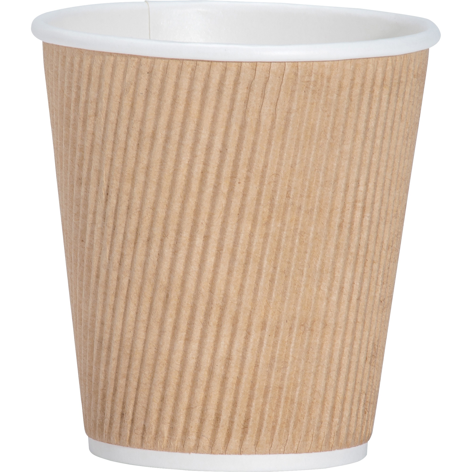 Genuine Joe Rippled Hot Cup,  10oz.,  500/CT,  Brown - GJO11256CT