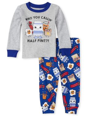 The Children's Place Baby Toddler Boy Long Sleeve Pajamas, 2-Piece Set