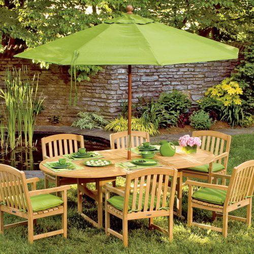 Oxford Garden Extension Patio Dining Set - Seats 6