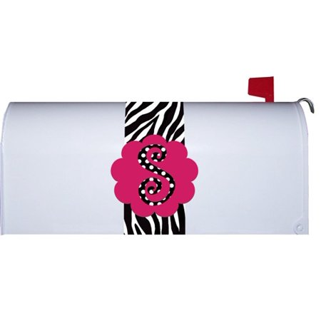 Hot Pink Polka Dot Monogram S Zebra Stripe Mini Mailbox Magnetic Makeover