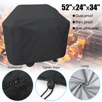 "Universal BBQ Gas Grill Cover, 52"" Waterproof Barbecue BBQ Cover Waterproof Polyester Fiber Material,Dust-proof,Rain Proof,Anti Ultraviolet Portable & Foldable For Garden Patio"