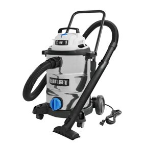 HART 8 Gallon 6.0 Peak HP Stainless Steel Wet/Dry Vacuum