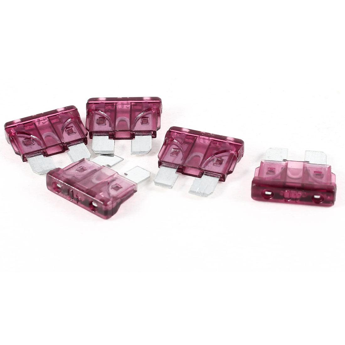 5pcs 40A Automotive Car Auto Purple Plastic Coated   Fuses