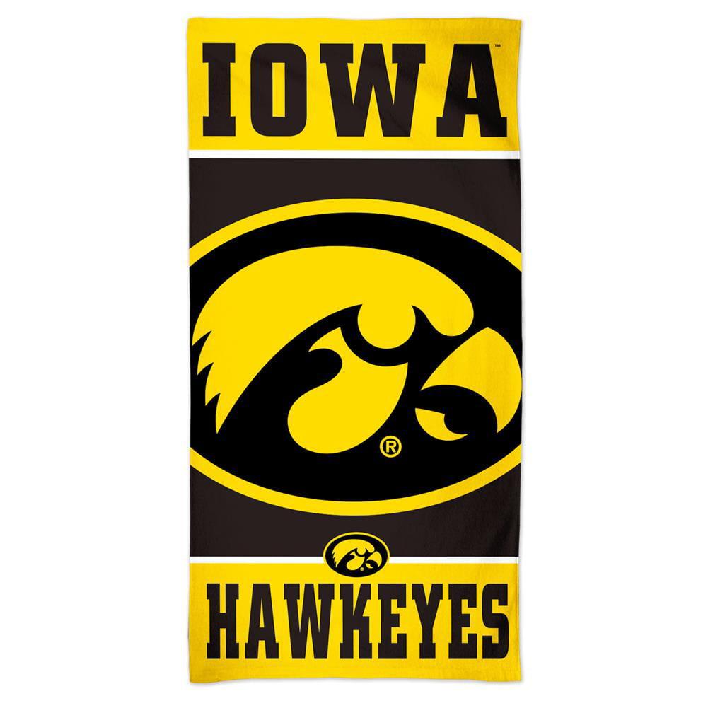 University of Iowa Hawkeyes Beach Towel 30 x 60 Spectra Beach Towel