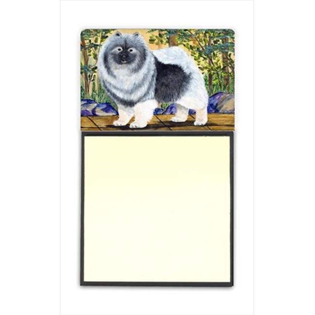 Carolines Treasures SS8127SN Keeshond Refiillable Sticky Note Holder or Postit Note Dispenser, 3 x 3 In. - image 1 of 1