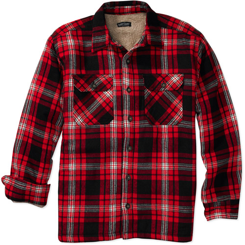 Sherpa Lined Flannel Shirt Jacket | Outdoor Jacket