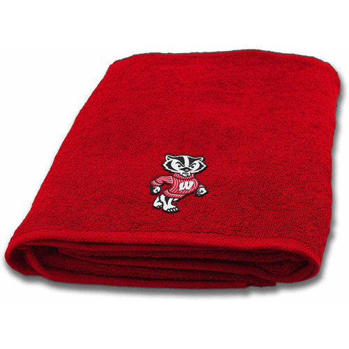 NCAA Applique Bath Towel, Wisconsin