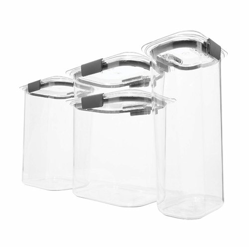 rubbermaid organizers kitchen rubbermaid brilliance pantry airtight 4 container food 2036