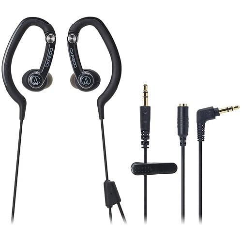 Audio Technica SonicSport In-Ear Headphones, Black, ATH-CKP200BK