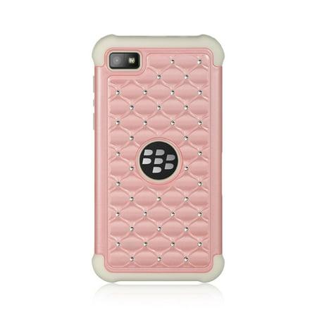 Insten Diamond Hard Hybrid TPU Cover Case w/Diamond For BlackBerry Z10 -