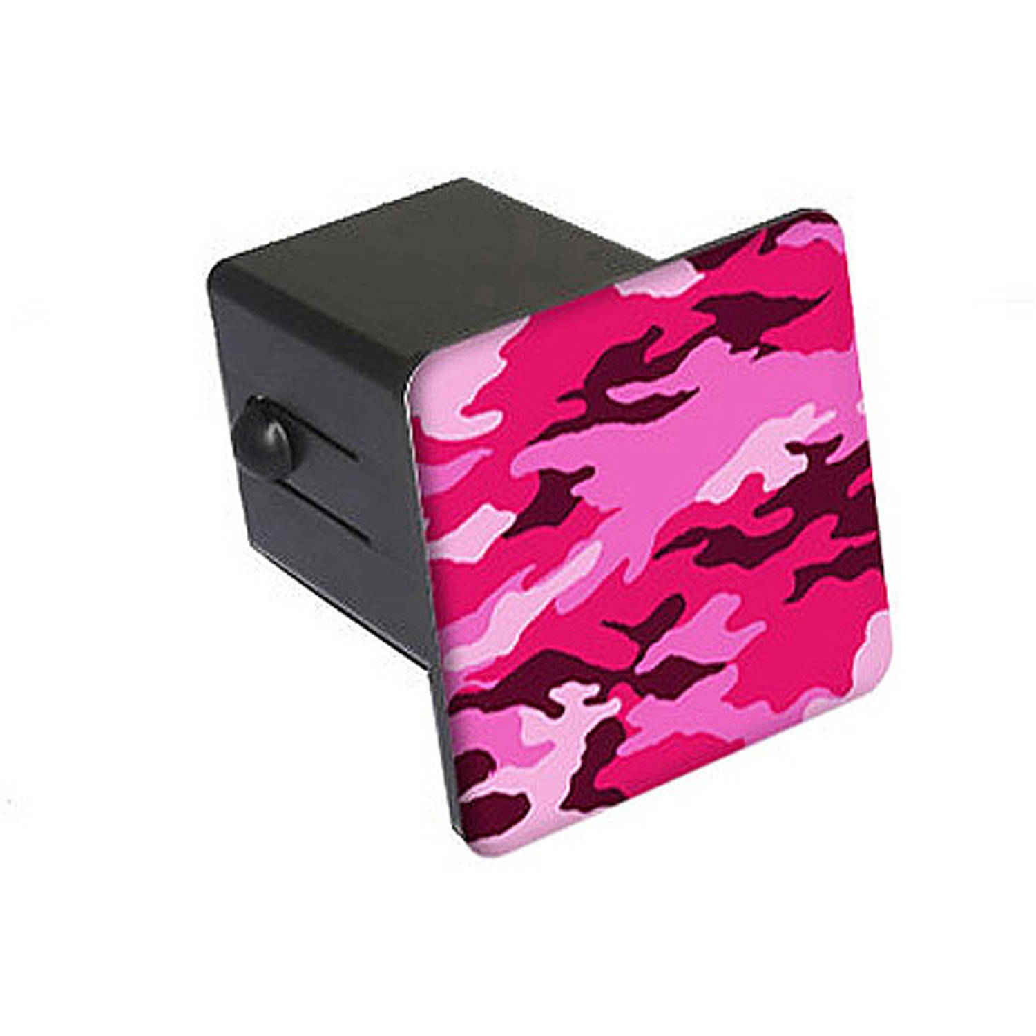 Graphics and More Pink Camouflage Oval Tow Hitch Cover Trailer Plug Insert 2