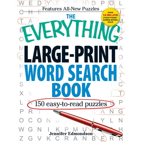 The Everything Large-Print Word Search Book: e50 Easy-to-Read Puzzles