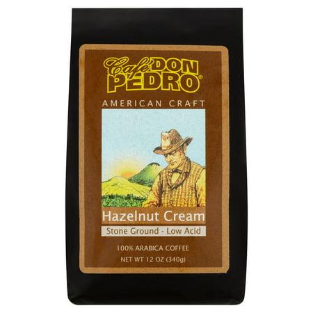 Cafe Don Pedro Hazelnut Cream 100% Arabica Coffee, 12 oz
