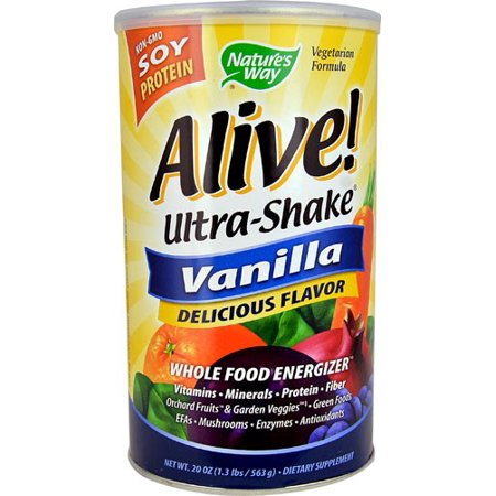 Nature's Way Vivant protéine de soja Ultra-Shake Vanille, 20 Oz