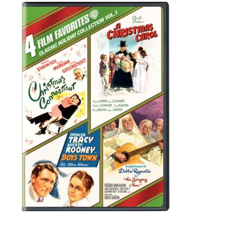 4 Film Favorites  Classic Holiday Collection  Vol  1   Boys Town   A Christmas Carol  1938    Christmas In Connecticut  1945    The Singing Nun