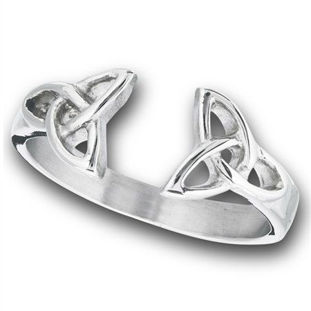 Open Celtic Triquetra Knot Thumb Ring New Stainless Steel Band Size 5