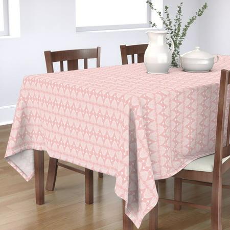 Tablecloth Arrow Tribal Boho Baby Girl Nursery Pink Girly Cotton Sateen ()