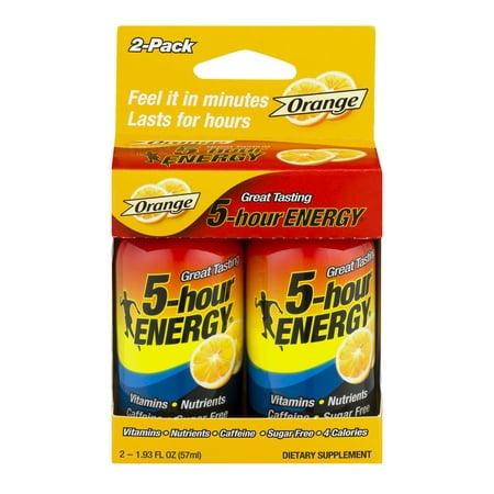 5-hour ENERGY Liquide orange Energy 2 PK Shot-, 4.0 FL OZ