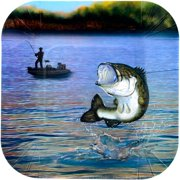"Gone Fishin 7"" Plates-square (8 Count)"