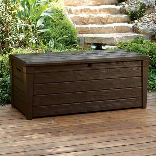 Keter Brightwood 120 Gallon Plastic Deck Box