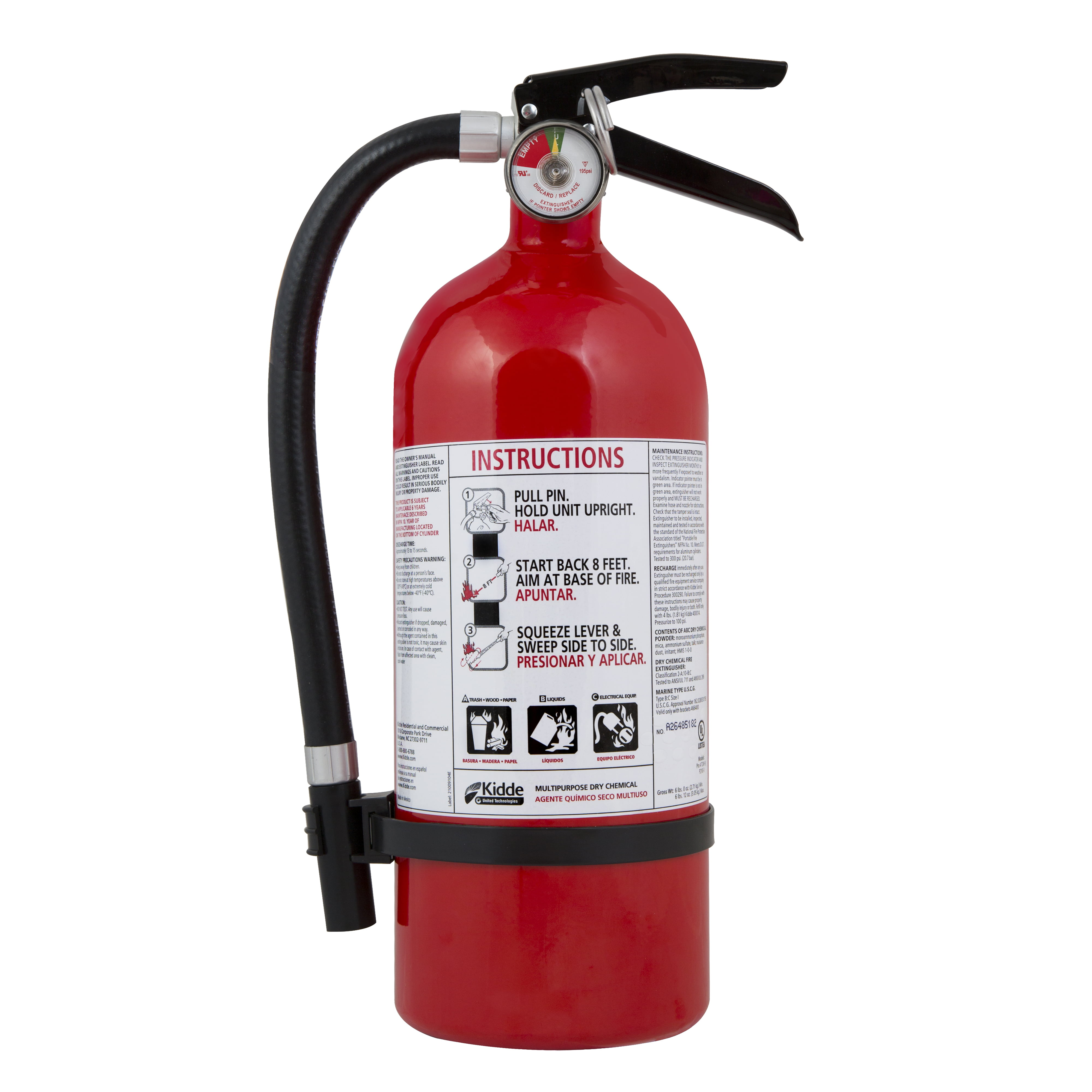 Kidde Fire Extinguisher 2A10BC Rating by KIDDE