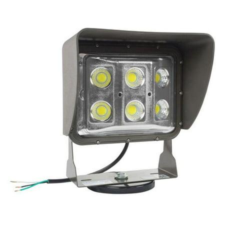 Larson Electronics LEDWP-600E-M Magnetic Mount 60 watt Low Profile LED Wall Pack Light with Glare Shield, Wide Flood Beam