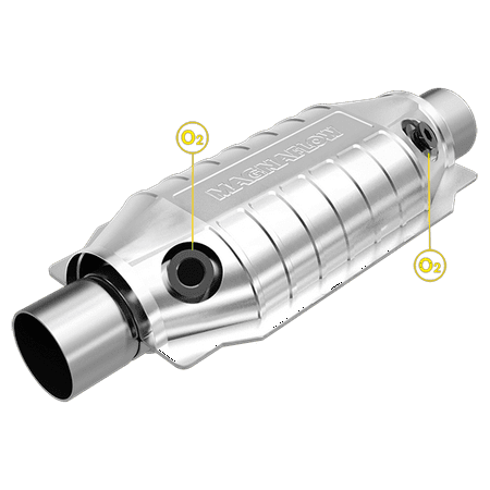 MagnaFlow Conv Universal 2.25 inch with dual O2 (Cmt Cmt333 03 Universal Hinge Boring System)