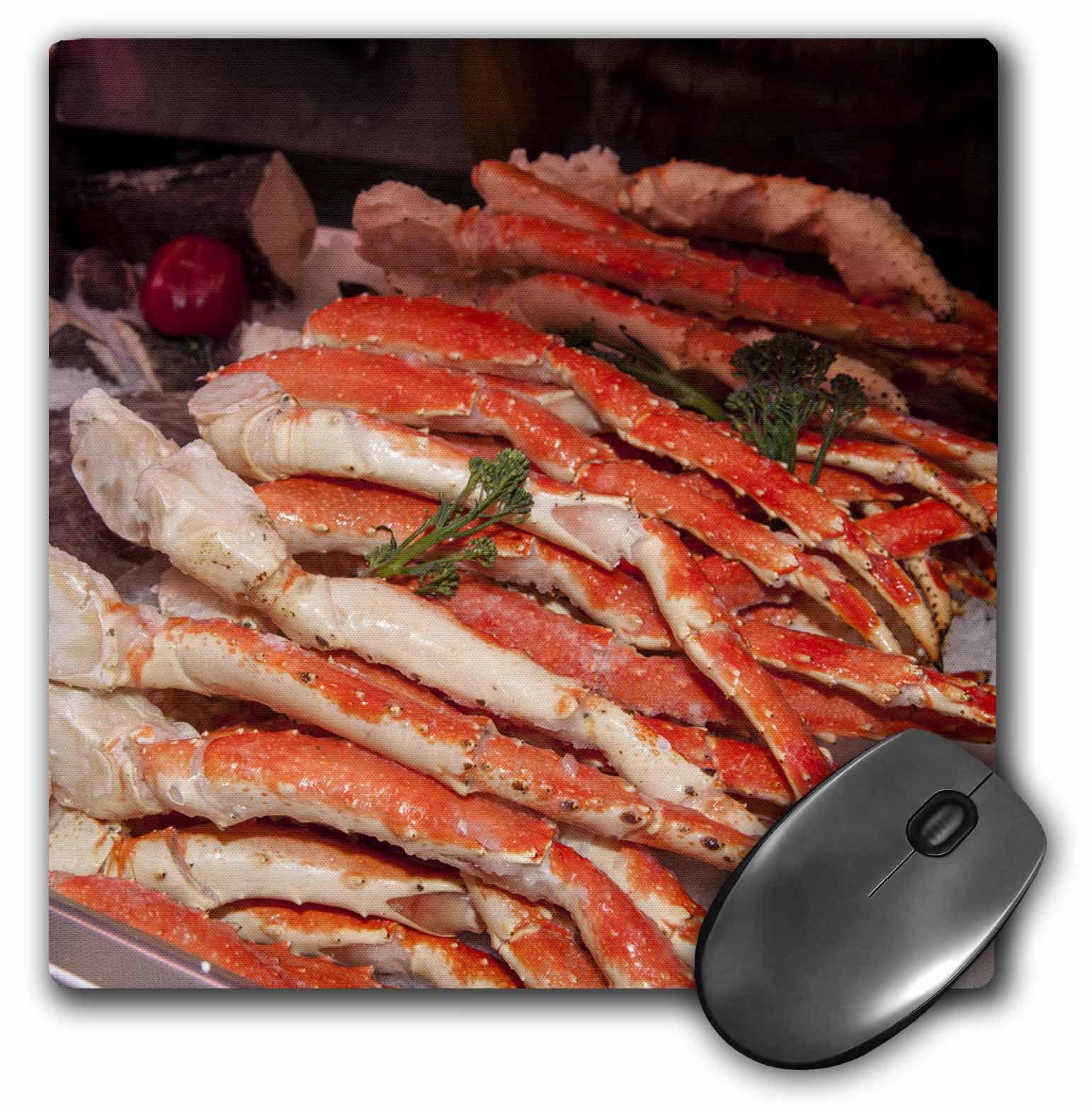 3dRose USA, Massachusetts, Boston, Market King crab legs - US22 JEN0084 - Jim Engelbrecht, Mouse Pad, 8 by 8 inches