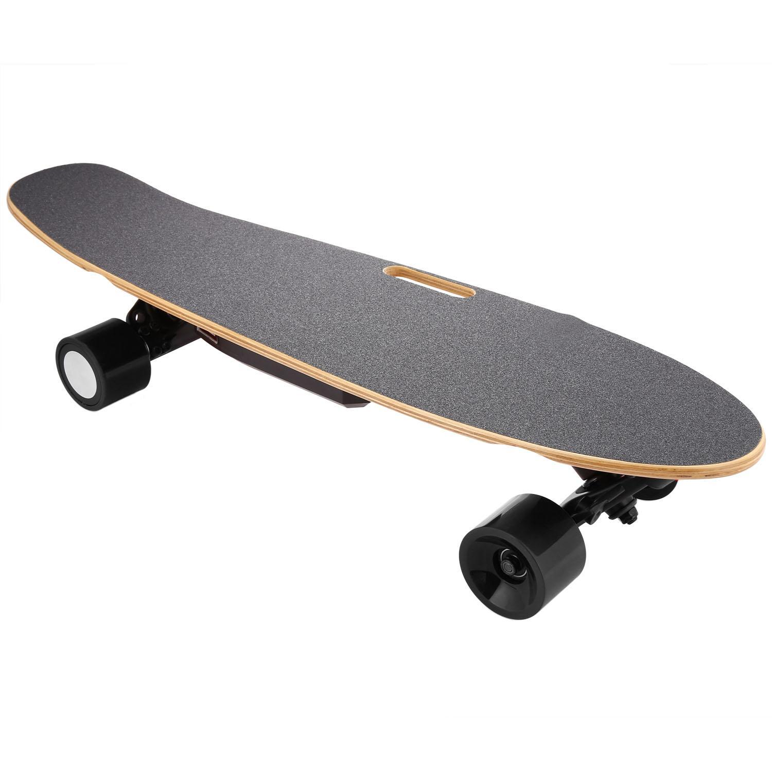 Click here to buy Electric Skateboard Longboard with Wireless Bluetooth Remote Control for Boys Adults.