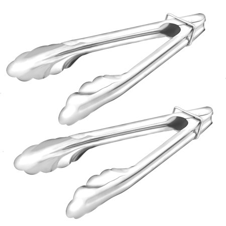 Cake Tongs (Kitchen Vegetable BBQ Cake Bread Food Clamp Serving Tongs Clip 18cm Long 2pcs)
