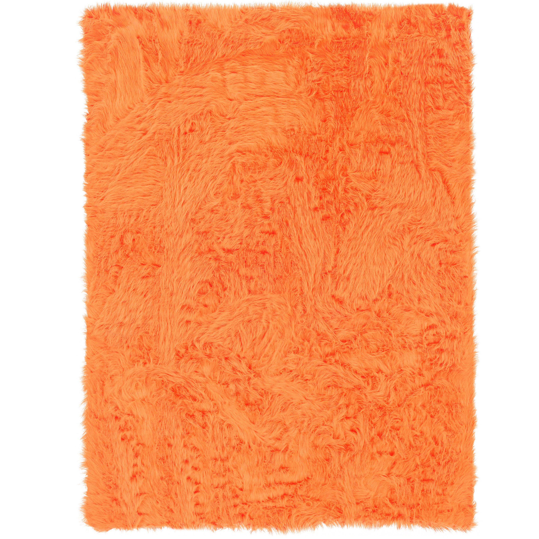 Faux Sheepskin, Orange