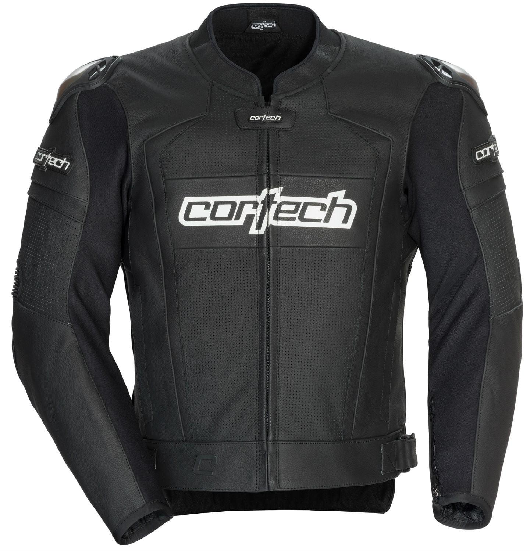 Cortech Adrenaline 2.0 Mens Leather Jacket Black
