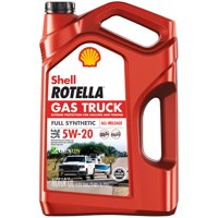 Shell Rotella Gas Truck Full Synthetic Engine Oil 5W-20, 5 Quart