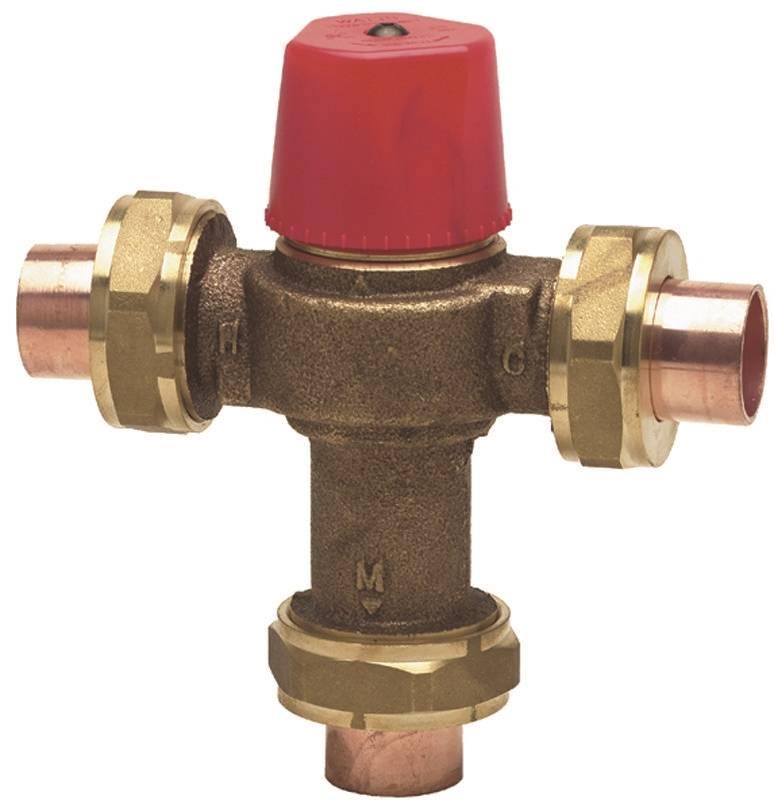 Watts 3/4 LF1170M2-UT Hot Water Temperature Control Valve, 3/4 in, Female, 150 psi, 0.5 gpm, Polysul