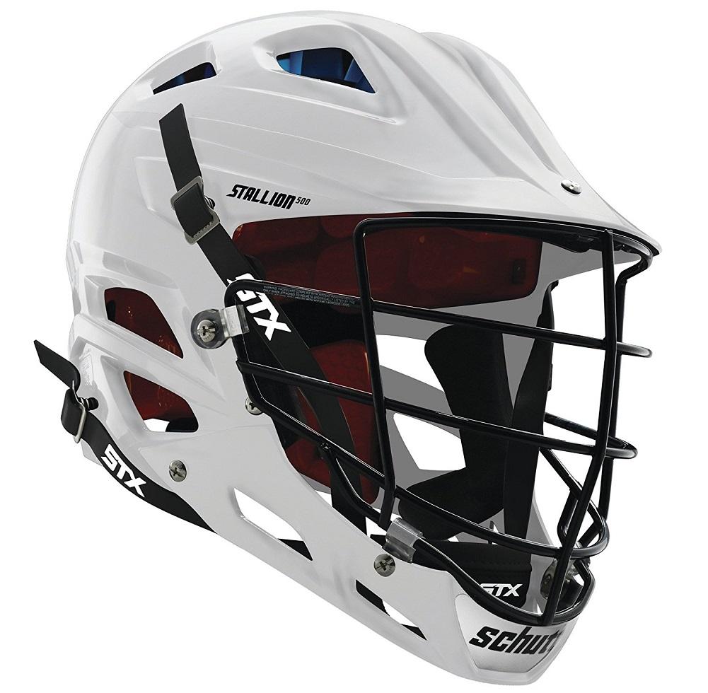 STX Lacrosse Stallion 500 Helmet, White, Large by