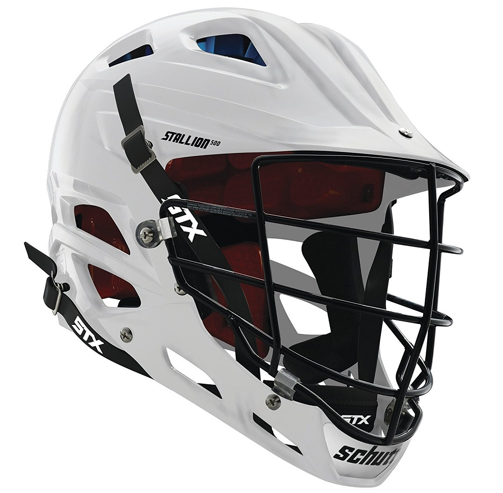 STX Lacrosse Stallion 500 Helmet, White, Large