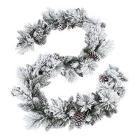 Holiday Time Unlit Flocked Colorado Garland, 9'