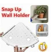 """Bathroom Wall Corner Mount Shelf Bathroom Organizer Triangular Shower Shelf Suction Triangle Storage Shelves Rack Dia 9"""""""