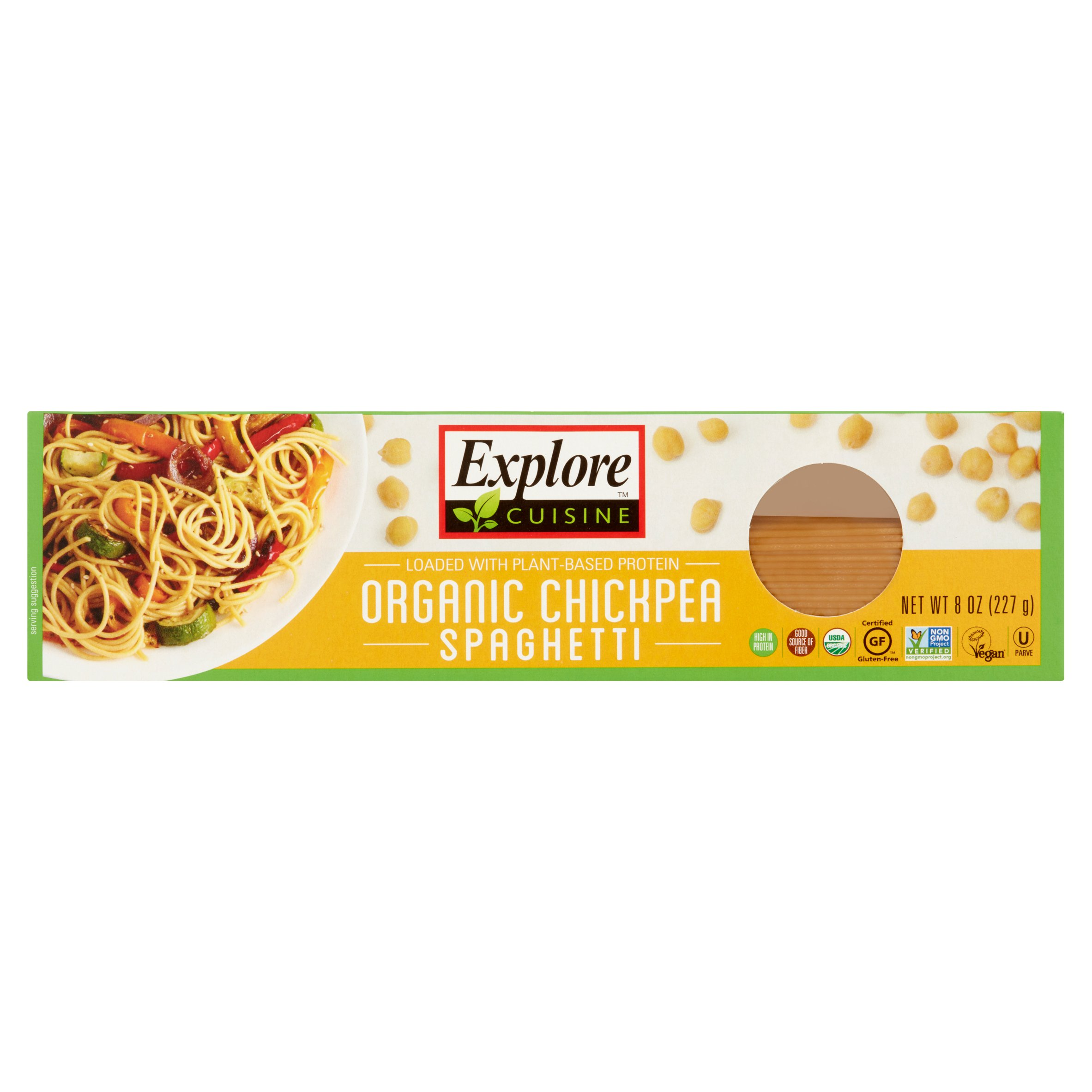 Explore Cuisine Organic Chickpea Spaghetti, 8 oz (Pack of 12)