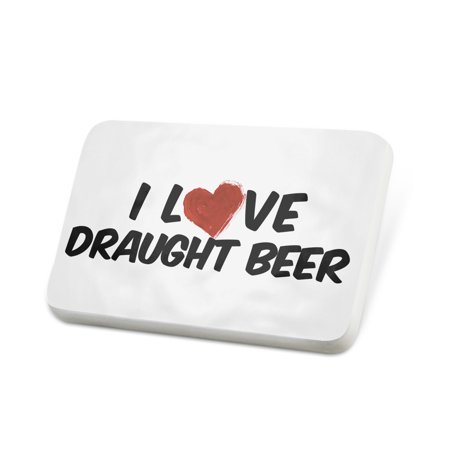 Porcelein Pin I Love Draught Beer Lapel Badge – NEONBLOND