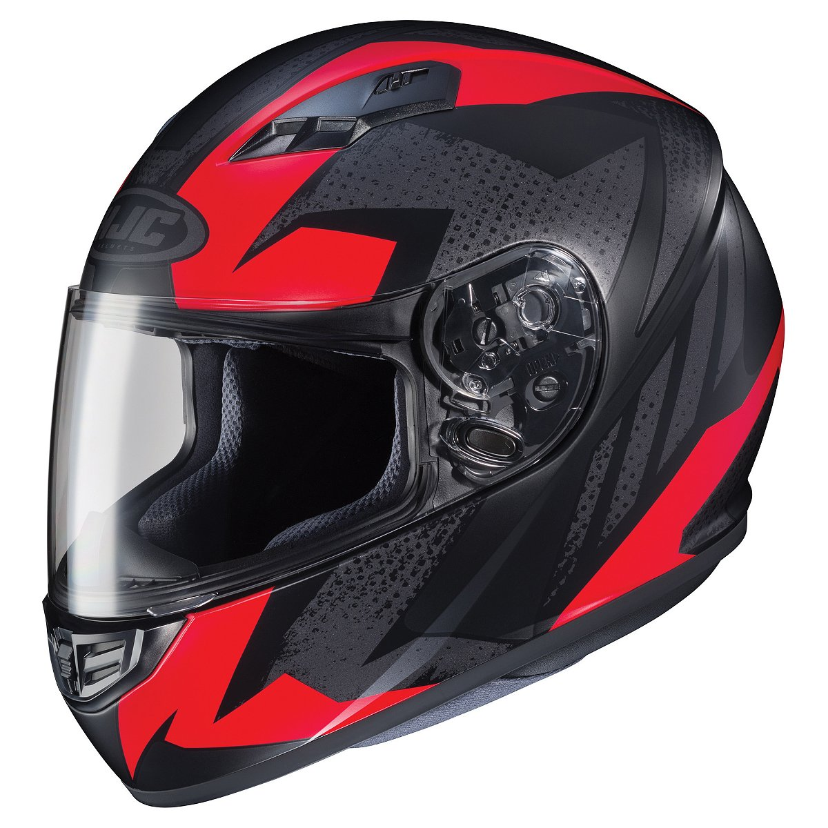 HJC CS-R3 Treague Motorcycle Helmet  Red/Matte Black