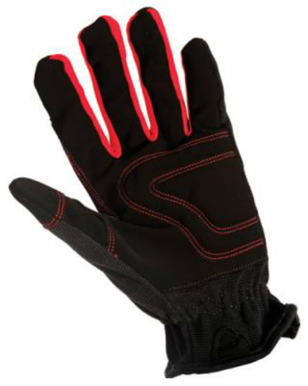 BIG TIME PRODUCTS LLC Utility Work Glove, Spandex/Leather, Medium 22002-23