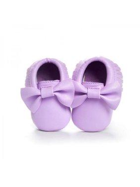 Baby Fringe Bow knots Leather Soft Crib Shoes