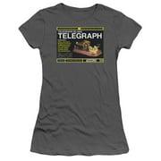 Warehouse 13 - Telegraph Island - Juniors Teen Girls Cap Sleeve Shirt - Large