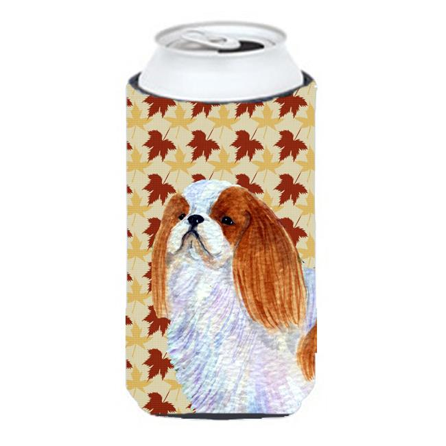 English Toy Spaniel Fall Leaves Portrait Tall Boy bottle sleeve Hugger - 22 To 24 oz. - image 1 of 1
