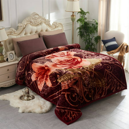 Home Bedding Roses Pretty Printing Amp Embossed Double Ply